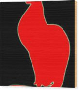 Cat 075-13 Marucii Wood Print