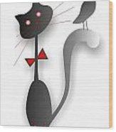 Cat 729 Wood Print