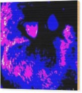 Cat Abstract Wood Print