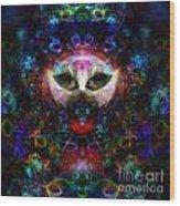 Cat Carnival Wood Print