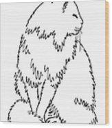 Cat Drawings 1 Wood Print