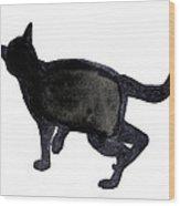 Cat I Wood Print