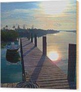 Cat Island Dock Wood Print
