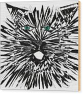 Cat Iwan Wood Print