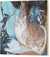 Cat Motif Wood Print