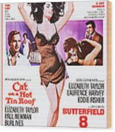 Cat On A Hot Tin Roof, Combo Poster Wood Print