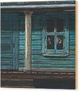 Cat On The Porch Wood Print by J Ferwerda