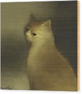 Cat Portraiture Wood Print