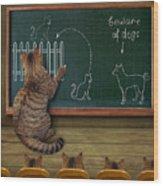 Cat Teacher And His Pupils... :) Wood Print