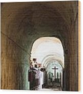 Catacombs In Palermo Wood Print