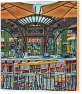Catal Outdoor Cafe Downtown Disneyland 01 Wood Print