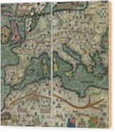 Catalan Atlas Wood Print