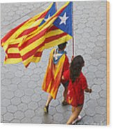 Catalan National Day 2014 Wood Print