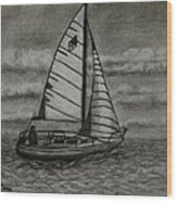 Catalina 25 Wood Print