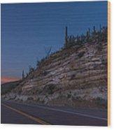 Catalina Highway Twilight Wood Print