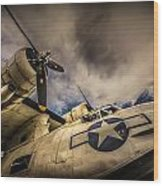 Catalina Pby-5a Miss Pick Up Low Angle Wood Print