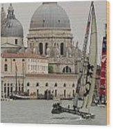 Catamaran In S.marco Wood Print