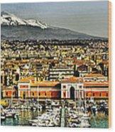 Catania Sicily Wood Print