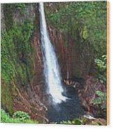 Catarata Del Toro Waterfall Wood Print