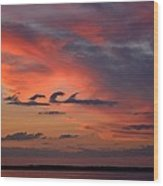 Catch The Cloud Wave Wood Print