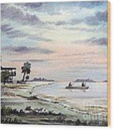 Catching The Sunrise - Hagens Cove Wood Print
