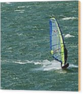 Catching Wind And Surf Wood Print