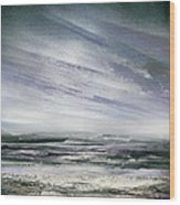 Catclough Reservoir Winter Rythms And Textures Wood Print