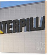 Caterpillar Sign Picture Wood Print by Paul Velgos