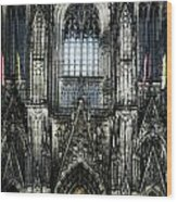 Cathederal In Koln Wood Print