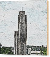Cathederal Of Learning Artistic Brush Wood Print