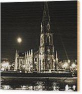 Cathedral At Nine Fifteen Wood Print by Tony Reddington
