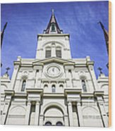 Cathedral-basilica Of St. Louis King Of France Wood Print
