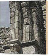 Cathedral Broken Arch At Glendalough Wood Print