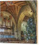 Cathedral Christmas Wood Print