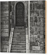 Cathedral Door And Steps Wood Print