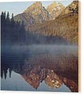 4m9304-cathedral Group Reflection, Tetons, Wy Wood Print