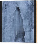 Cathedral Ice Waterfall Wood Print