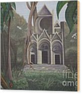 Cathedral In A Jungle Wood Print