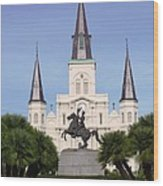 Cathedral In Jackson Square Wood Print
