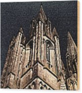 Cathedral In The Sky Wood Print