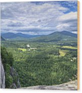Cathedral Ledge View Wood Print