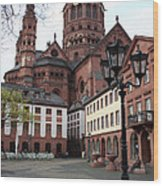 Cathedral - Mainz Wood Print