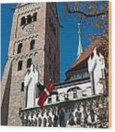 Cathedral Of Augsburg Wood Print