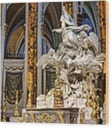 Cathedral Of Chartres Altar Wood Print