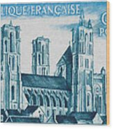 Cathedral Of Laon Wood Print