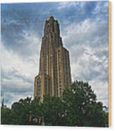 Cathedral Of Learning Wood Print by S Patrick McKain