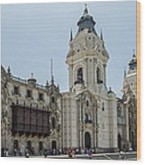 Cathedral Of Lima Wood Print