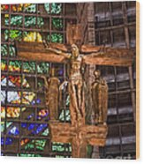 Cathedral Of Rio De Janeiro Wood Print