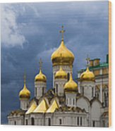 Cathedral Of The Annunciation Of Moscow Kremlin Wood Print