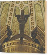 Cathedral Of The Immaculate Conception Detail - Mobile Alabama Wood Print